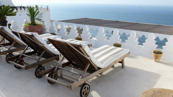 Tangier, Morocco, Hotel, The Tangerina, View, Roof