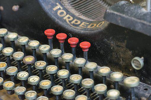 Typewriter, Keys, Vintage, Old, Antique, To Write