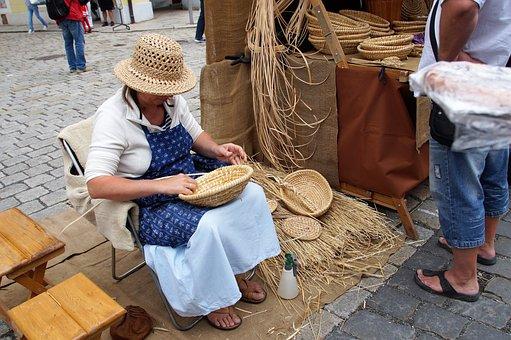 Košíkářka, Woman, Wrong, Splicing, Markets, Baskets
