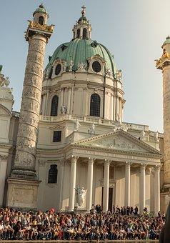 Church, City, Human, Much, Summer, Vienna