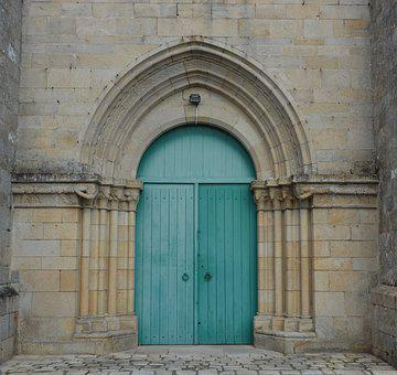 Portal Cathedral, City Of Lamballe, Door Color Green