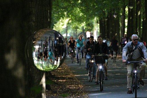 Münster, City, City münster, Promenade, Cyclists