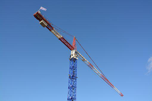 Crane, Site, Work, Lifting, Machine, Building, Pulleys
