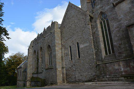 Cathedral, Old Wall, Stones, Facade, Cathedral Lamballe
