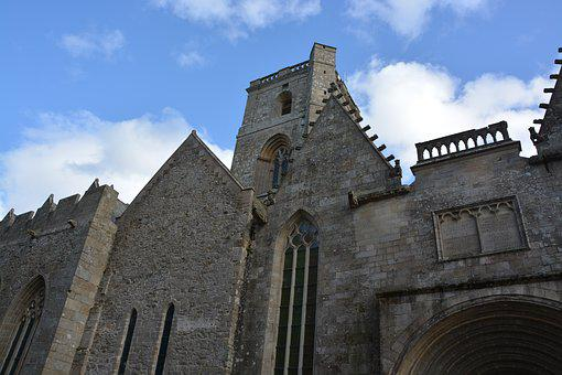 Cathedral Lamballe, Facade, Wall Stones, France