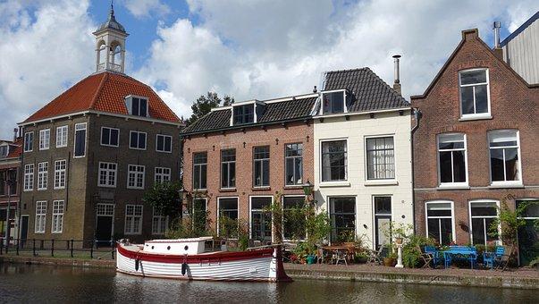 Cityscape, Canal, Facades, Holland, Netherlands