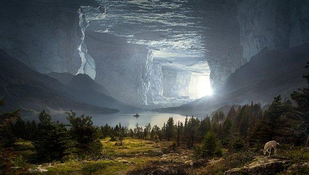 Fantasy, Cave, Mystical, Rock, Stone, Caves Portal