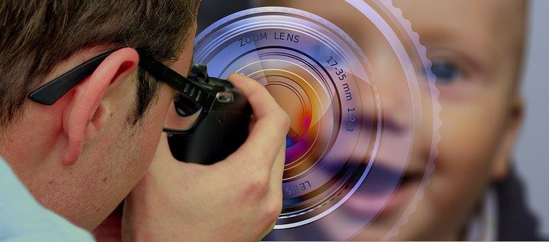 Photography, Photograph, Child, Man, Camera