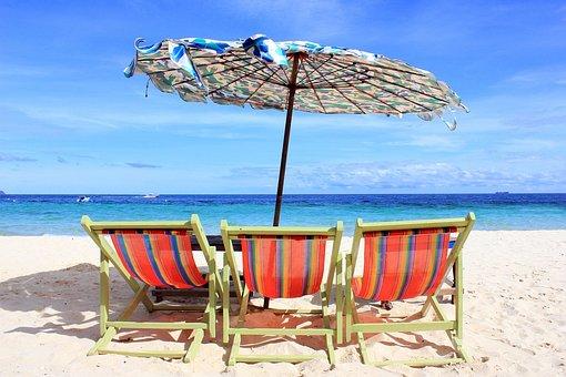Sea, Chair, Beach, Vacation, Sand, Travel, Ocean, Relax