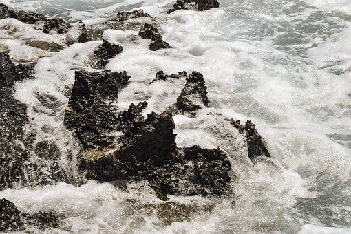 Foam, Wave, Coast, Sea, Shore, Rock, Water, Nature