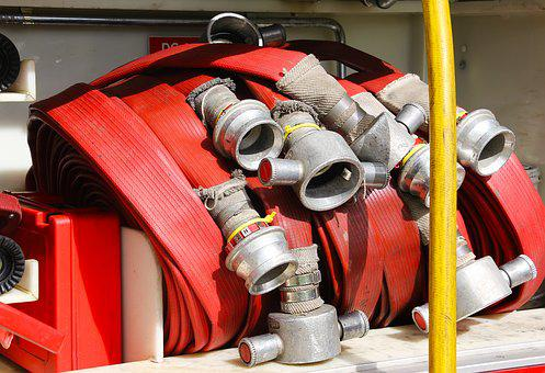 Fire, Hose, Coupling, Emergency, Safety, Water