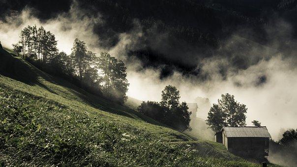 Landscape, Nature, Scenic, Austria, Stall, Autumn, Fog