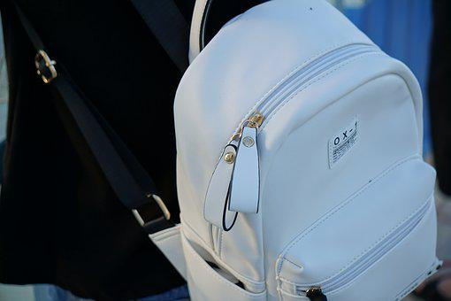 Bag, White, Fashion, Zipper, Style, Girl, Young