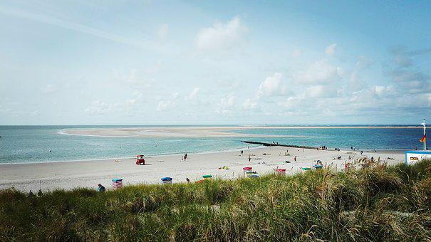 Beach, Borkum, North Sea, Island, North Sea Island Of