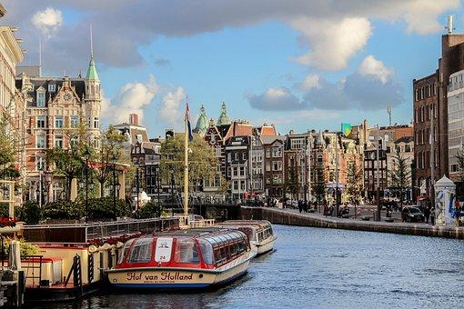 Amsterdam, Ship, Netherlands, Holland, City, Dutch