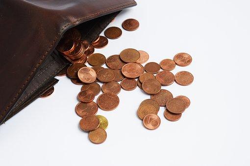 Wallet, Coins, Euro, Money, Exchange, Bank, Cash