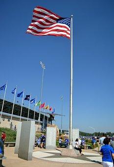 Flag, Stadium, Football Stadium