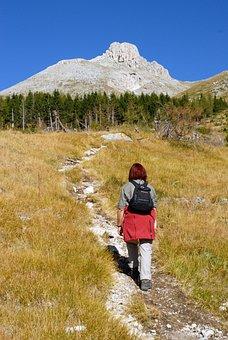 Trekking, Hiking, Mountain, Hiker, Outdoor, Landscape