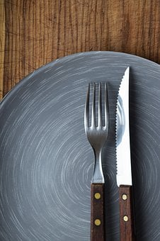 Knife And Fork, Plate, Dish, Menu Design, Empty Plate