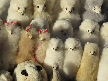 Peru, Lama, Alpaca, Stuffed Animal, Soft Toy