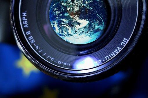 Camera, Earth, Photograph, Lens, Globe, Photo, Digital