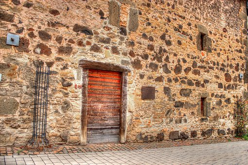 Memory, Old, Warehouse, Scale, Stone Wall, Stones