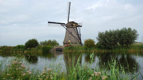 Wind Mill, Mill, Kinderdijk, Cultural Heritage