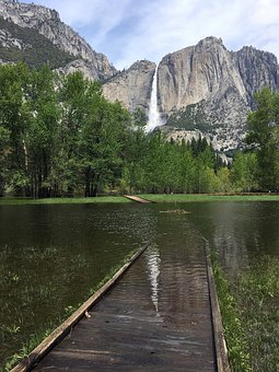 Nature, Waterfall, Yosemite, Scenic, Spring, Mountains