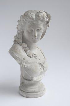 Sculpture, Female, Woman, Bust, Classical, Antique