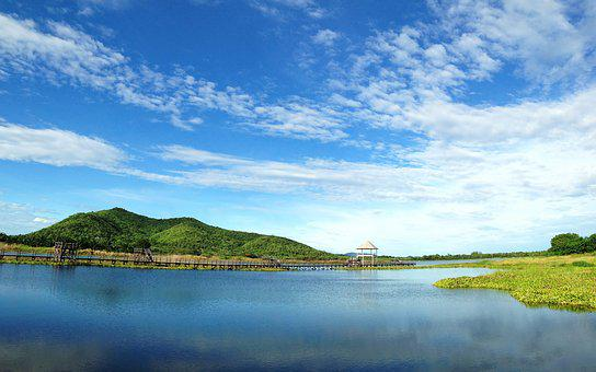 Lagoon, Sky, Mountain, Travel, Nature, Landscape, Water