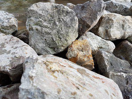 Stones, Rocks, Stream, Nature, Texture, Natural