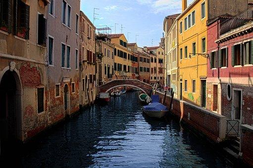 Venice, Canal, Italy, Travel, Venezia, Italia, Water