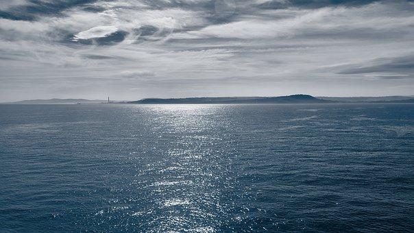 Sea, Lake, Longing, Wanderlust, Clouds, Sky, On Lake