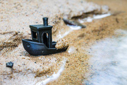 Bach, Water, Sand, Ship, Art, Nature, Forest, Flow