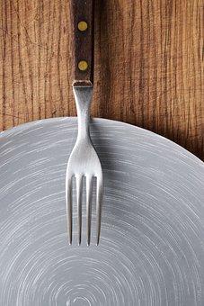 Fork, Plate, Dish, Menu Design, Cutting Board, Wooden