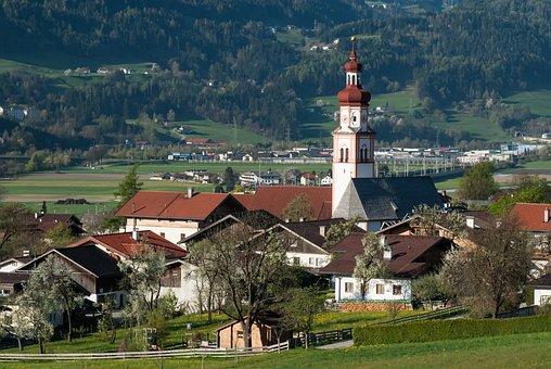 Baumkirchen, Parish Curch, St Laurentius, Village, Town