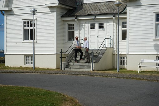 Handshake, Stairs, Home, Building, External Staircase