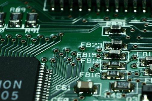 Printed Circuit Board, Print Plate, Via, Macro, Close