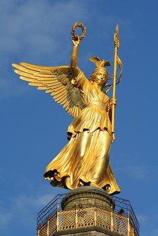 Berlin, Siegessäule, Sky, Capital, Gold Else, Big Star