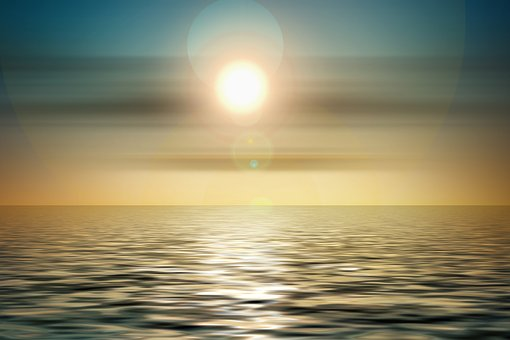 Sunset, Origin, Abstract, Wave, Circle, Meditation