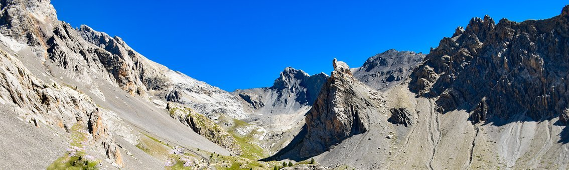Summit, Mountain, Landscape, Panorama, View, Sky, Blue