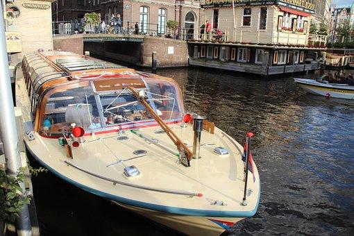 Amsterdam, Ship, Water, Travel, Boat, Netherlands