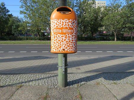 Garbage Can, Please, Feed, Zoo, Berlin, Capital, Clean