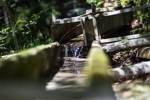 Water, Wood, Construction, Old, Drip, Wood Pile, Clear