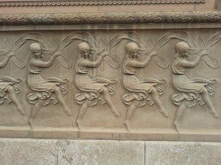 Facade, Dancers, Art Deco, Stone, Art, Sculpture