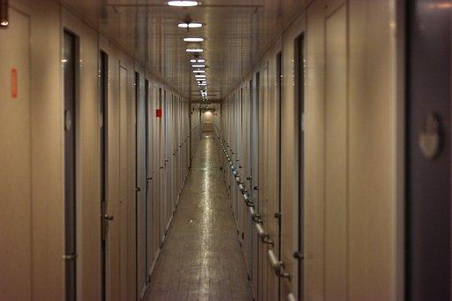 Ship, Gang, Cabins, Floor, Interior, Ferry