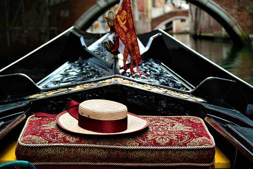 Hat, Gondola, Venice, Color, Seat, Romance