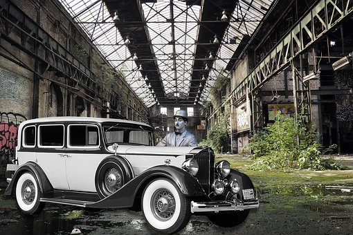Oldtimer, Charlie Chaplin, Hall, Factory, Old, Lapsed