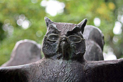 Owl, Sculpture, Walk In The Park, Hamburg