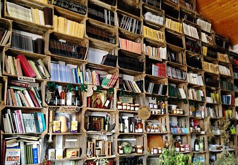 Library, Business, Books, Spirits, Shelves, Honey
